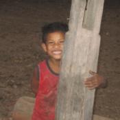 Lao Boy Posing for Photo