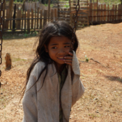 Lao Girl on Playground