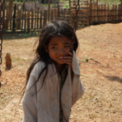 Lao Girl on Playground
